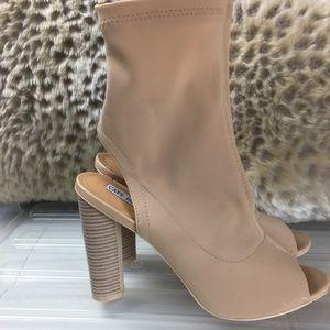 Shoes - NUDE TRENDY PEEP TOE SEXY HIGH HEEL BOOTIES